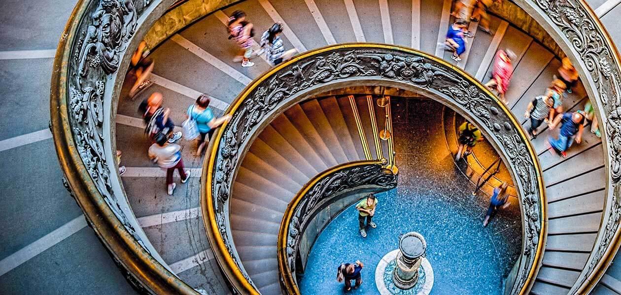 Vatican Spiral Staircase seen during the Bramante Staircase Tour